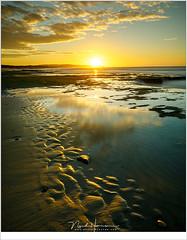 Zonsondergang op het strand van Wissant