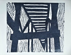 Drager Meurtant - What if (a bridge) - 2, 2017 (drager meurtant) Tags: bridge print abstract linocut graphic dragermeurtant