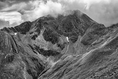 Am Bodach (Francis Mansell) Tags: mountain mamores scotland scottishhighlands monochrome blackwhite cloud snowpatch crag landscape gully ambodach