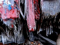 Left doorpost or... (violetchicken977) Tags: texturaltuesday flakingpaint rottingwood