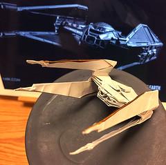 TIE Silencer origami prototype (Matayado-titi) Tags: sugamata spaceship starship starwars space starfighter tiefighter tie silencer origami shusugamata matayado