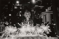 Marilyn Monroe, photograph by Lawrence Schiller, 1962 (Tom Simpson) Tags: marilynmonroe cheesecake pinup woman sexy vintage girl photograph lawrenceschiller 1962 1960s sparklers candles birthday birthdaycake cake