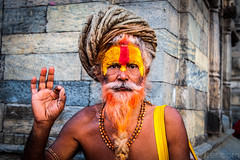 Holy Man I (#Weybridge Photographer) Tags: canon slr dslr eos 5d mk ii nepal kathmandu asia mkii temple holy man portrait pashupatinath