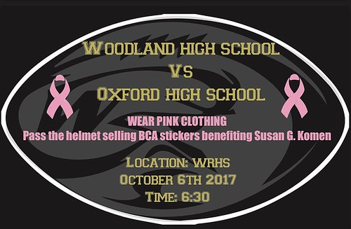 "Pink out tonight at 6:30! There will be a ""Pass the Helmet"" so bring cash if you wish to participate 🎀"