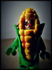 Corn on Macabre (LegoKlyph) Tags: lego custom horror monster creature corn pun macabre clown evil brick block mini figure blood