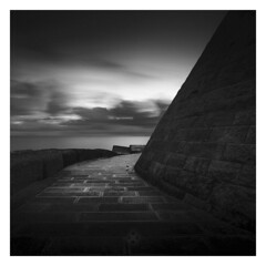 Mosaic (picturedevon.co.uk) Tags: monopoli italy eu remain fineart bw bnw blackandwhite sea seascape le longexposure grey manip nisi filter sky clouds coast water wall path mono square white light morning sunrise canon picturedevoncouk europe