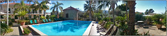 San Marco Residence Oasi (/RealityScanner/) Tags: italien italy cilento sanmarco tommaso residenceoasi feriendomizil town kleinstadt travel reise autumn herbst mediterranean sony xperia c6903 poll panorama palms chairs liegestühle sunchairs water sky blue green
