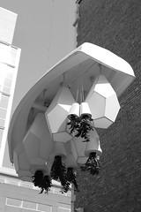 Pavitra Wickramasinghe, Frontière, 2017 (art_inthecity) Tags: montréal montreal canada artpublic publicart quartierdesspectacles km3 plants plantes plastique plastic installation frontière boat bateau white blanc wall bricks