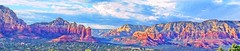 NOTHING CAN BRING YOU PEACE BUT YOURSELF (Irene2727) Tags: nature scenery pano panorama landscape scape mountains colors sedona arizona clouds textures