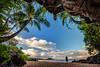 Selfie from Centipede Cave, Maui (PIERRE LECLERC PHOTO) Tags: cave maui hawaii centipedecave makena secretbeach beach palmtrees tropical landscape nature selfie selfportrait travel sand oneperson person silhouette man pierreleclercphotography hawaiiprints canon5dsr