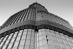 At the tip - Burj Khalifa (Vagish Hardooru) Tags: burjkhalifa morning tip architecture