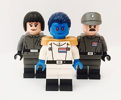 Grand Admiral Thrawn, Governor Pryce and Captain Pellaeon (bricksfeeder) Tags: lego starwars sw minifigurine minifig custom