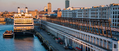 2017 - Boston - Black Falcon Cruise Terminal (Ted's photos - For Me & You) Tags: 2017 boston cropped massachusetts nikon nikond750 nikonfx tedmcgrath tedsphotos usa vignetting rotterdam hal halcruise tethered moored ropes blackfalconcruiseterminal bostonblackfalconcruiseterminal blackfalconcruiseterminalboston cruiseship bollards sunrise flynncruiseportboston flynncruiseport
