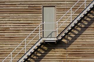 Stairway, door and shadows