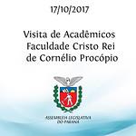 Visita de acadêmicos da Faculdade Cristo Rei - Cornélio Procópio