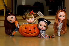 Halloween (Passion for Blythe) Tags: halloween takara blythe pumpkin boo fear