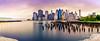 A Brooklyn Panorama (Morkos Salama) Tags: city nyc panorama brooklyn newyork summer sunset clouds cloud long exposure