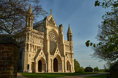 St Albans Cathedral (Mayur Shivz - Out and about photography) Tags: st alban cathedral abbey church norman 8th century hertfordshire blue sky architecture history historic sony sonyalpha a7ii 35mm distagon