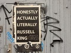 Honestly, Actually, Literally (aestheticsofcrisis) Tags: street art urban intervention streetart urbanart guerillaart graffiti postgraffiti new york ny nyc manhattan soho lowereastside wheatpaste pasteup