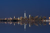 NYC Freedom Tower Reflections (Mike Ver Sprill - Milky Way Mike) Tags: nyc reflections reflect mirror finish new york city jersey nj bayonne freedom tower statue liberty blue hour beautiful skyline cityscape hudson river america big apple murica never forget architecture modern society western culture west