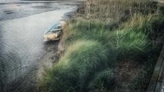 Una barca. (Marina Is) Tags: hierba barca boat water grass agua rio mar deltadelebro