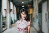 Mai (Randy Wei) Tags: cheongsam qipao 旗袍 chinese clothing eastern mitakon speedmaster zhongyi fujifilm bokeh daylight sunlight rembrandt lighting naturallight portrait smile earring hallway
