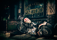 Olde City Tattoo (Darren LoPrinzi) Tags: 5d canon5d philadelphia philly street streetphotography urban canon city miii cycle motorcycle tattoo tattooparlor storefront store sign signs signage neon neonsign neonsigns oldecitytattoo oldecity oldcity