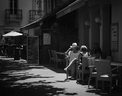 Tea for two ... (Chris Jadoul) Tags: chrisjadoul nb bw terrasse streetphotography monochrome tea