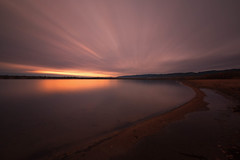 First Light (mclcbooks) Tags: sunrise dawn daybreak sky clouds lake morning beach landscape le longexposure chatfieldstatepark lakechatfield colorado