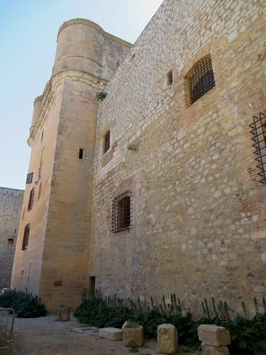 Donjon de la forteresse (XVe-XVIe), Salses, Corbières maritimes,   Roussillon, Occitanie, France.