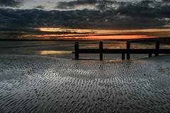 Beach Ripples (Sunset Snapper) Tags: beachripples sunset haylingisland hampshire southcoast uk beach sea sand reflections clouds ripples groyne lowtide seascape filter lee nd grad nikon d810 2470mm pools november 2017 sunsetsnapper