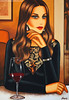 Red Wine and Dreams (100x70cm) (Ekaterina Moré Art) Tags: art kunst ekaterinamore icons magicofbeauty women woman lady fashion foto photo wine redwine bar coffee photoshoot paintings malerei simplybeautiful artgallery artfair painter artiststudio artcollection femininity frau portrat portrait model models fashionphotografie exhibition event