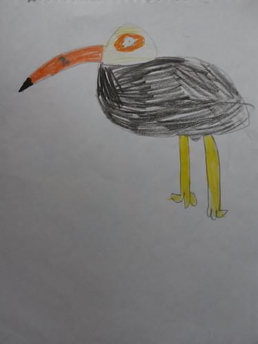 """dessin """"l'oiseau et l'enfant"""" (1)"""
