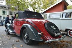 Peugeot 201 Cabriolet (Monde-Auto Passion Photos) Tags: voiture vehicule auto automobile peugeot 301 cabriolet convertible roadster spider rouge ancienne classique rassemblement evenement france nemours