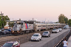 Holding it Down (sully7302) Tags: nj transit gp40ph2 4100 cnj central railroad njtr geep gp40p rutherford erie bergen county passenger train transport trains sunset dusk new york