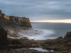 calm before the storm (Anthony White) Tags: porthcawl wales unitedkingdom gb firecrest 6 stop nd filter firecrestpolariser longexposure rocks clouds lighthouse rock pool nopeople ophelia ilce7rm2 sel2470gm2 anthonywhitesphotography a7r