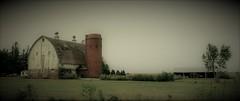 Brick Silo (Neal3K) Tags: iowa barn silo ventilator isolation fog bricks
