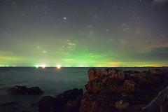Starry Night (free3yourmind) Tags: starry night stars rocks sea ocean koh lanta island thailand lights