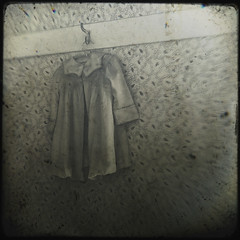 no longer worn (jssteak) Tags: canon t1i homestead nightshirt ttv vintage blackandwhite hanger
