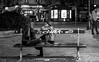 DSCF5549 (::Lens a Lot::) Tags: carl zeiss planar 50mm ƒ14 t✮ aej mid 70's | 6 blades iris cy mount f14 black white street photography train gate people bench vintage manual fixed prime lens german germany noir et blanc monochrome intérieur station personnes profondeur de champ bokeh depth field dof 2017 paris portrait night light darkness trottoir nuit