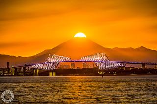 Diamond Fuji with Tokyo Gate Bridge