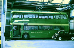 Slide 107-23 (Steve Guess) Tags: dorking surrey england gb uk bus lcbs country london glasgow strathclyde leyland atlantean an garage ds