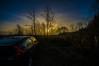 watching the sunrise (Mange J) Tags: c4 citroën europe grums k3ii magnusjakobsson pentax sigma1020exdc sigma1020 sverige sweden värmland beauty blue clear field fog forrest green hdr mist morning nature pentaxart psa rear sky sun sunrise tree wheel wood