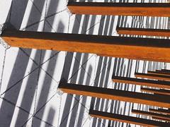 Forest of Iron & Shadow (whatsayjk) Tags: minimal texture design lines geometric art perspective atlanta iphone shadow light minimalism iron rust pattern georgia