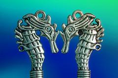 the twins (sure2talk) Tags: macromondays zodiac gemini thetwins romanzodiac seahorses fauxvintagekeys keys hmm nikond7000 nikkor85mmf35gafsedvrmicro macro closeup