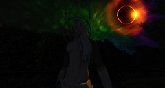 The invocation of the infernal father (Fraz_Gloom) Tags: photography second life sl astral gothic lucifer space eclipse portrait