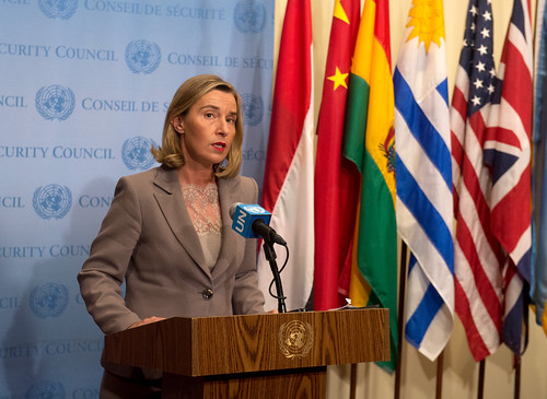 Federica Mogherini attends the 72 UNGA Ministerial Meeting in New York, September 2017