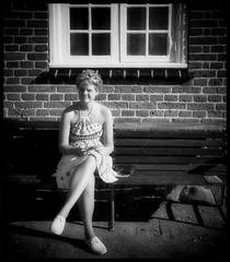 In the early eighties... Waiting... (iEagle2) Tags: analog analogfilm analogue colorslide ehefrau female femme frau film woman wife eighties