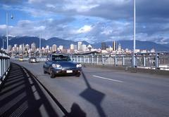 Citroen on Granville Bridge - Vancouver - Nov. / 1977 (POP SNAP) Tags: citroen vancouver kodachrome 1977 citroends
