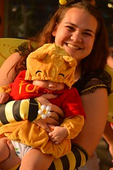 This Bear has the perfect mommy (radargeek) Tags: dayofthedead 2016 plazadistrict okc oklahomacity winniethepooh bear baby bee costume